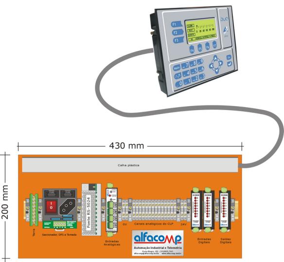 CLP com IHM para instalar em painel existente.